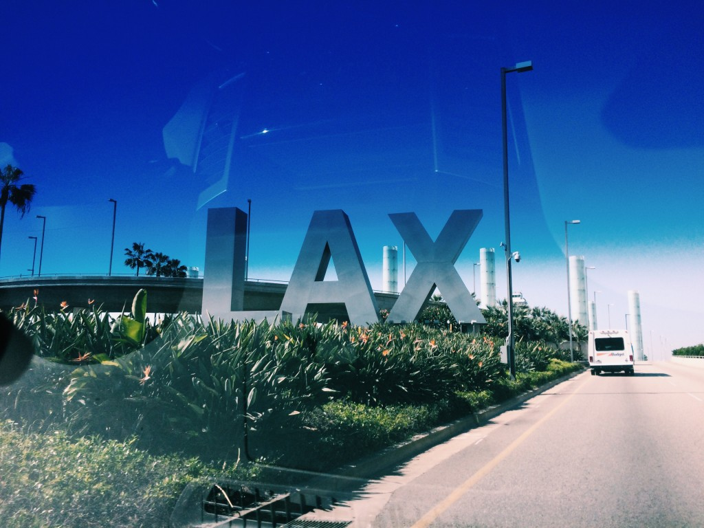 LAX travel post fashion blogger