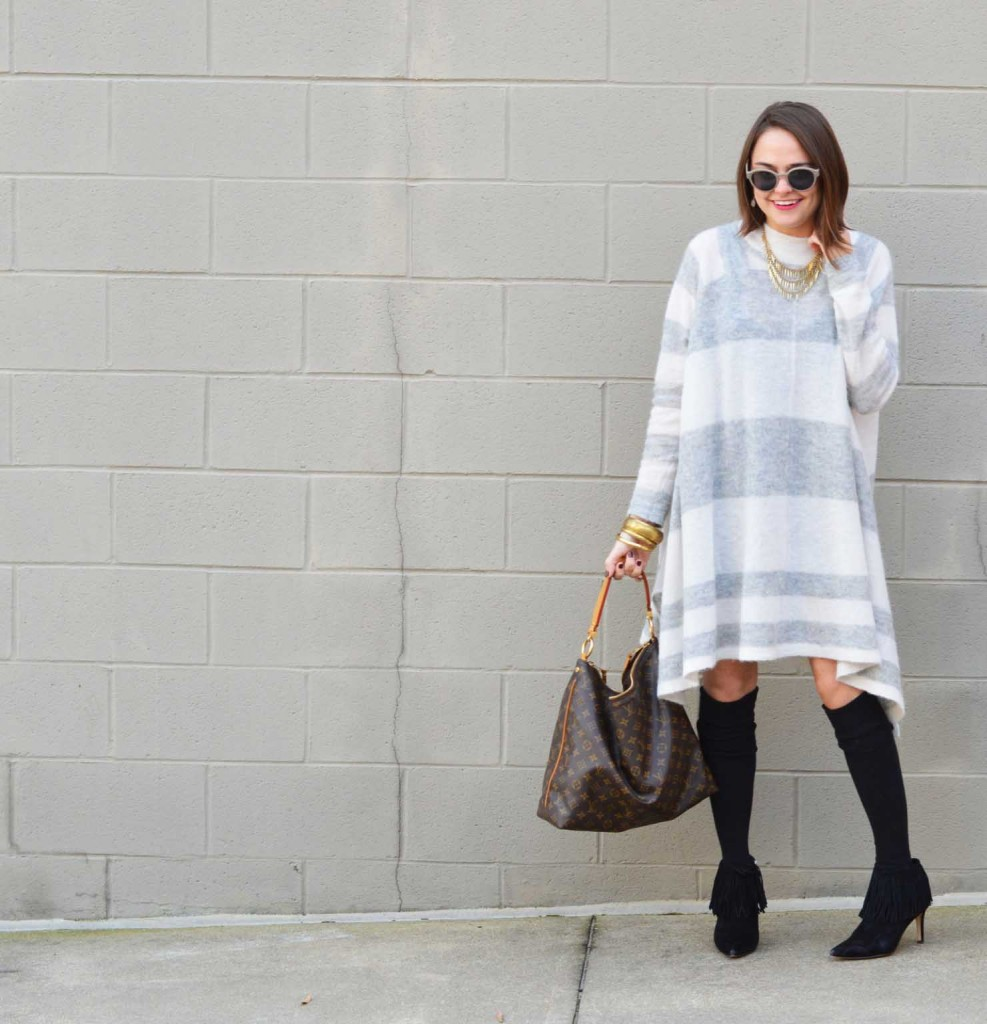 Knee Highs and Sweater Dress