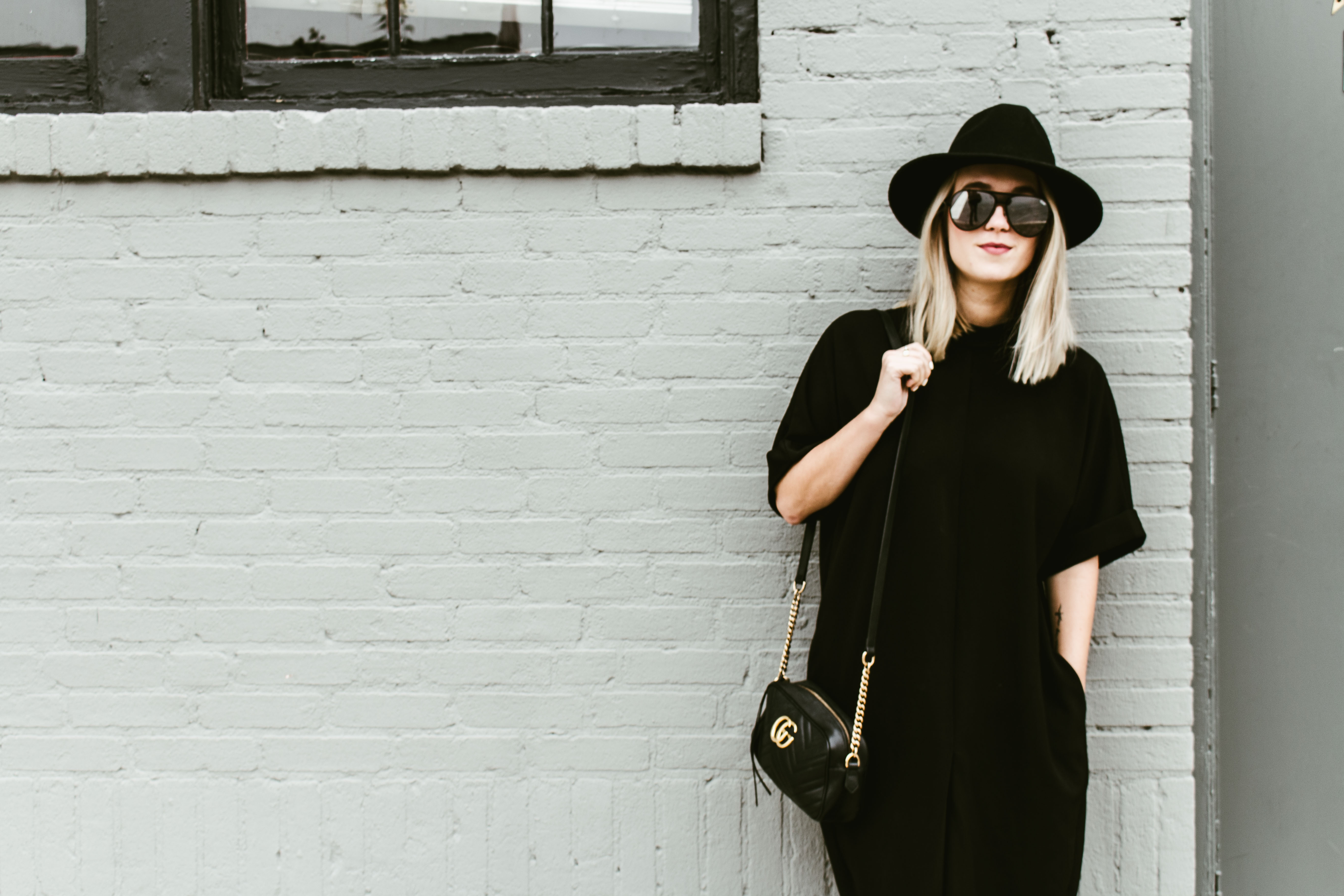 The ultimate fall fashion statement piece  the black panama hat. Where has  this black hat been all my life  For the amount of time it has saved me  getting ... 0be38579fad